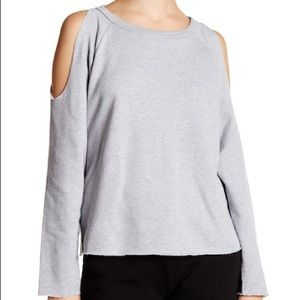 Cold Shoulder Grey Sweatshirt